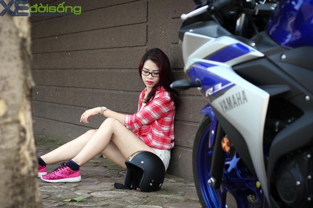 Yamaha R3 do dang cung thieu nu Ha Thanh xinh dep - 5