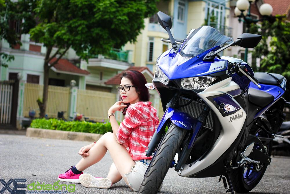 Yamaha R3 do dang cung thieu nu Ha Thanh xinh dep - 6