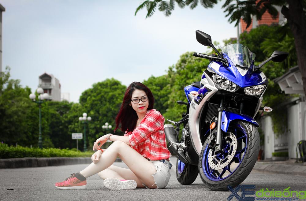 Yamaha R3 do dang cung thieu nu Ha Thanh xinh dep - 7