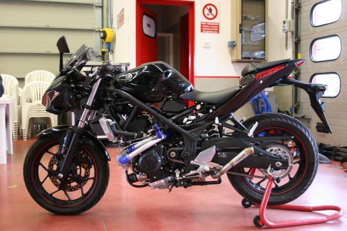 Can canh Yamaha R3 do he thong Turbo