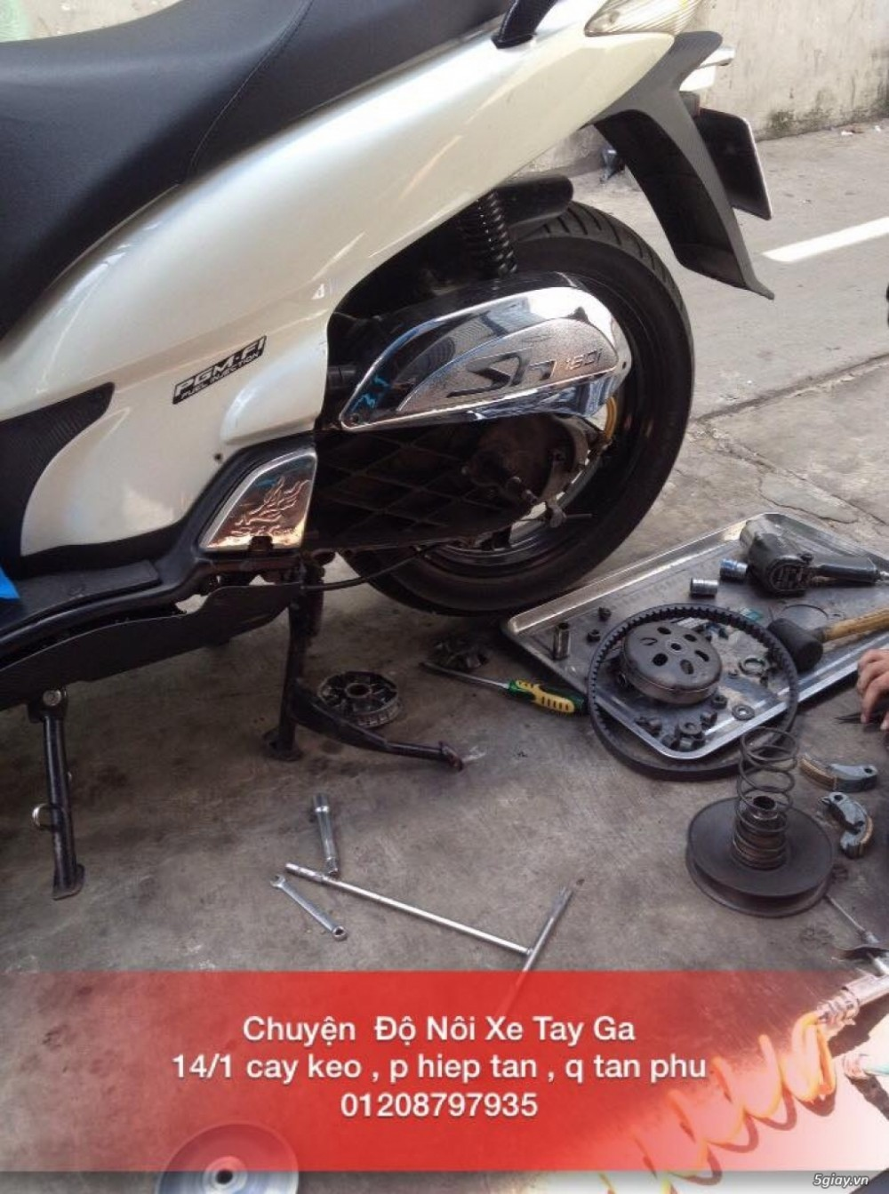 Chuyen Do Noi Xe Tay Ga Full Noi Noi Zin Bao Duong Ve Sinh Noi Cho Yamaha Honda Piago - 24