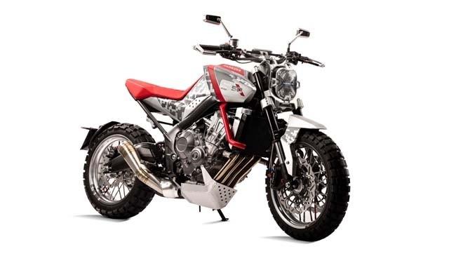 Honda CB Six50 Concept phien ban Scrambler day co bap