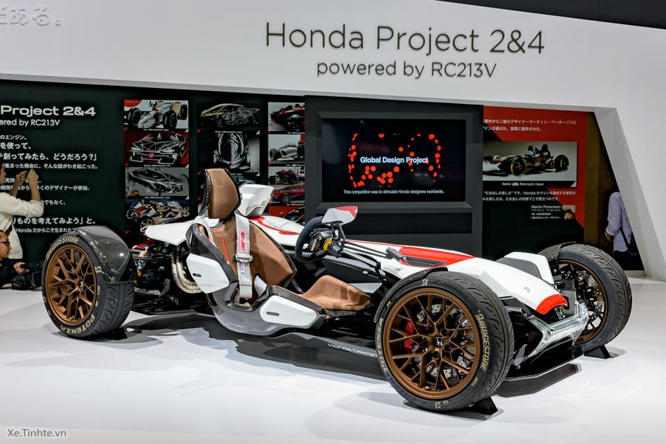 Honda Project 24 xe dua 4 banh voi dong co cua sieu mo to RC213V