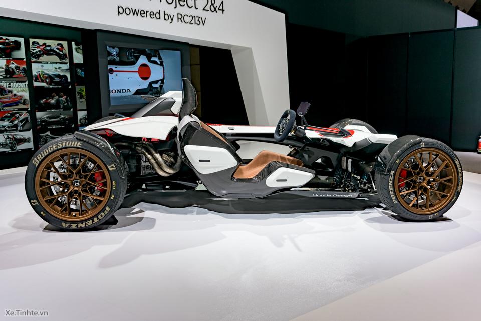 Honda Project 24 xe dua 4 banh voi dong co cua sieu mo to RC213V - 3