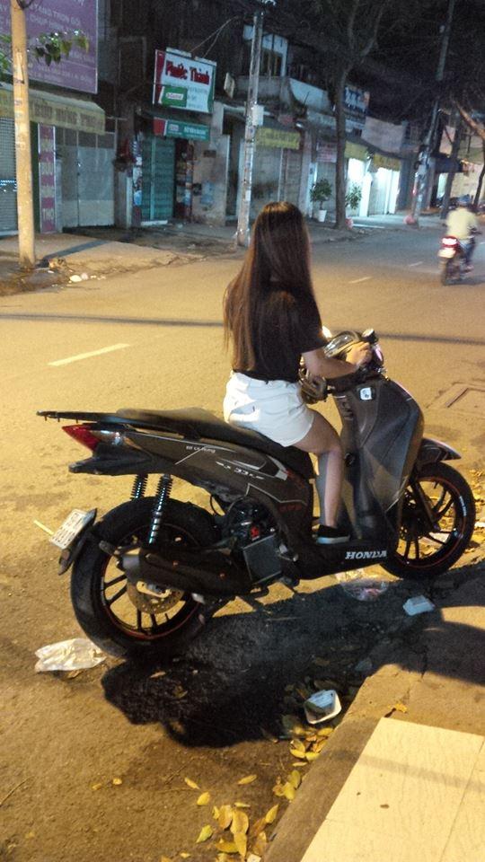 Honda Sh125 do kieng Rizoma tay thang Rider 6 so va vai mon an choi