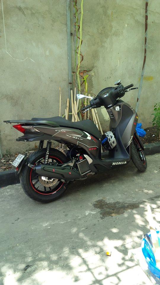 Honda Sh125 do kieng Rizoma tay thang Rider 6 so va vai mon an choi - 2