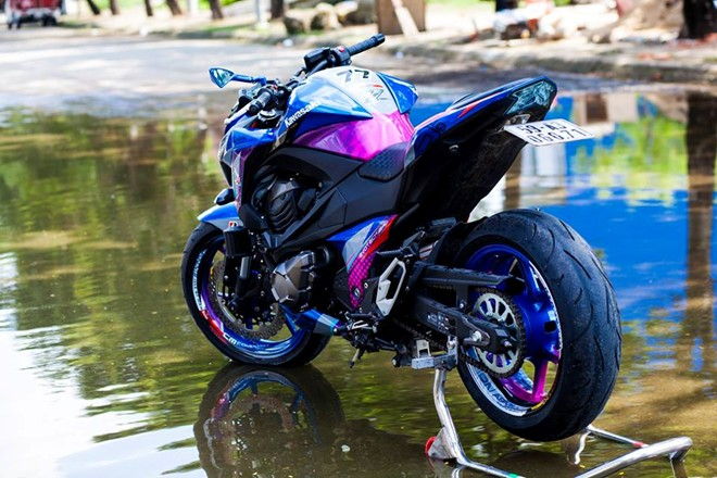 Kawasaki Z800 dan ao son tem doc la cua biker Sai Gon - 2