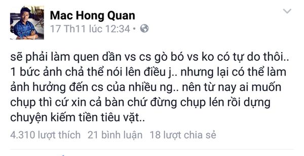 Mac Hong Quan da bay to su buc xuc ve nhung thong tin duoc dang tai - 3