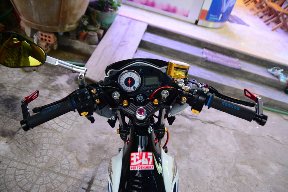 Satria F150 do day phong cach cua biker Viet