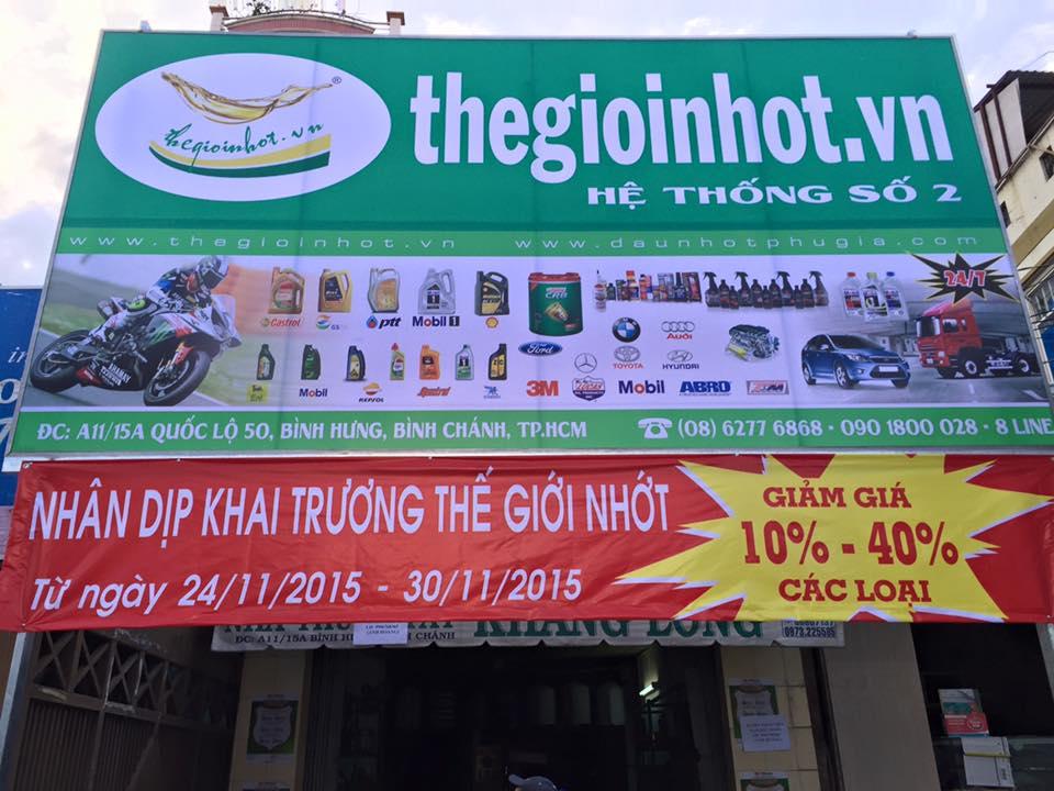 Thegioinhotvn Chuoi cua hang dau nhot va phu gia nhap khau