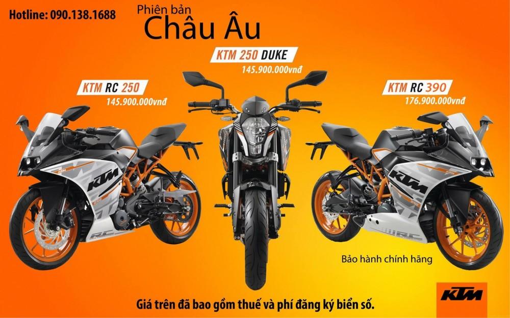 Bo doi KTM RC250 va KTM 250 DUKE chinh thuc ra mat
