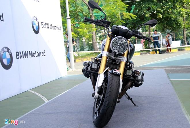 Dan moto BMW R NineT hoi tu ve Vietnam Motorbike Festival 2015 - 5