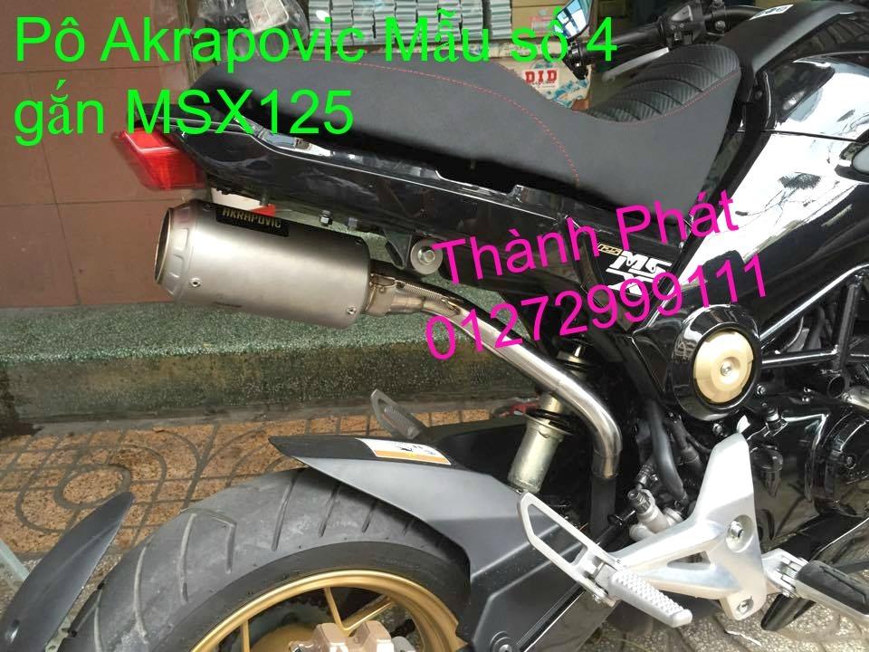 Do choi Honda MSX 125 tu A Z Po do Kinh gio Mo cay Chan bun sau de truoc Ducati Khung suo - 49