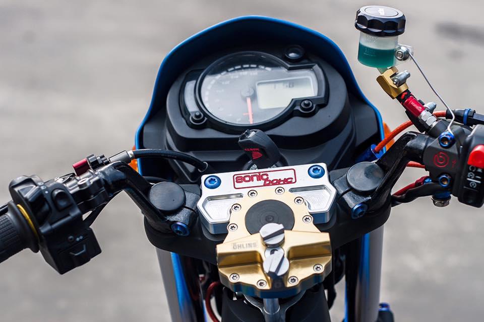 Bo doi Honda Sonic do khung cua biker Sai Gon - 8