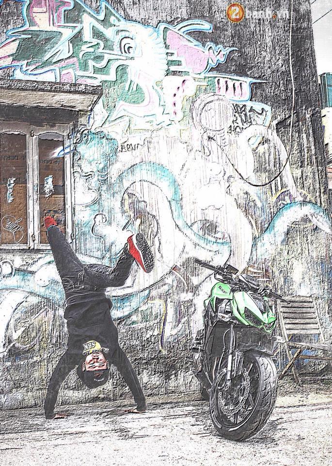 Chien binh duong pho Kawasaki Z1000 va vu dieu duong pho Hip Hop - 6
