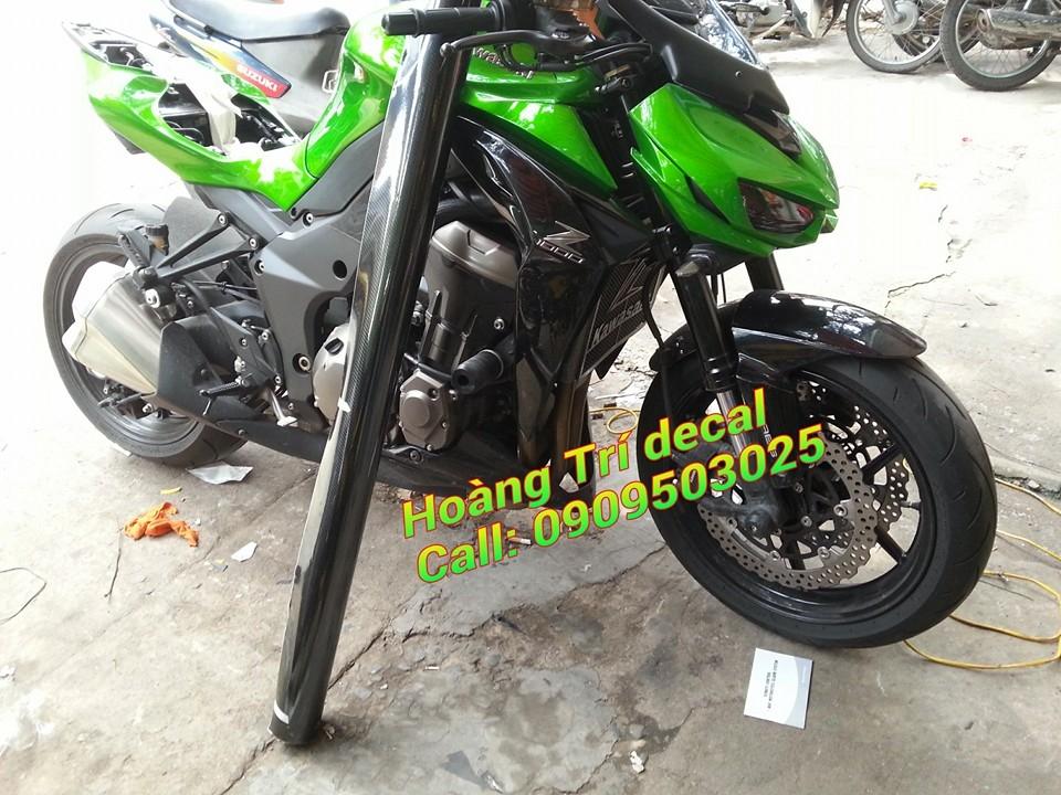 Dan decal crom xe Kawasaki Z1000