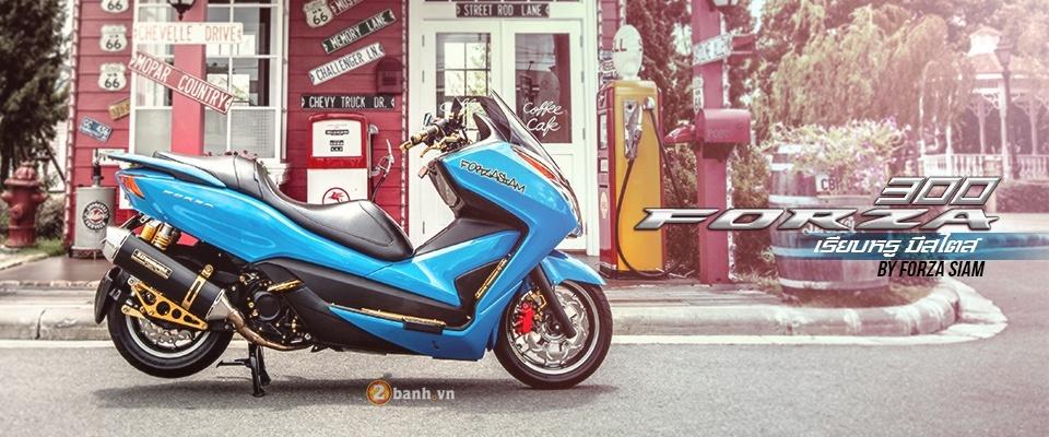 Honda Forza 300 do hang loat do choi biker day phong cach