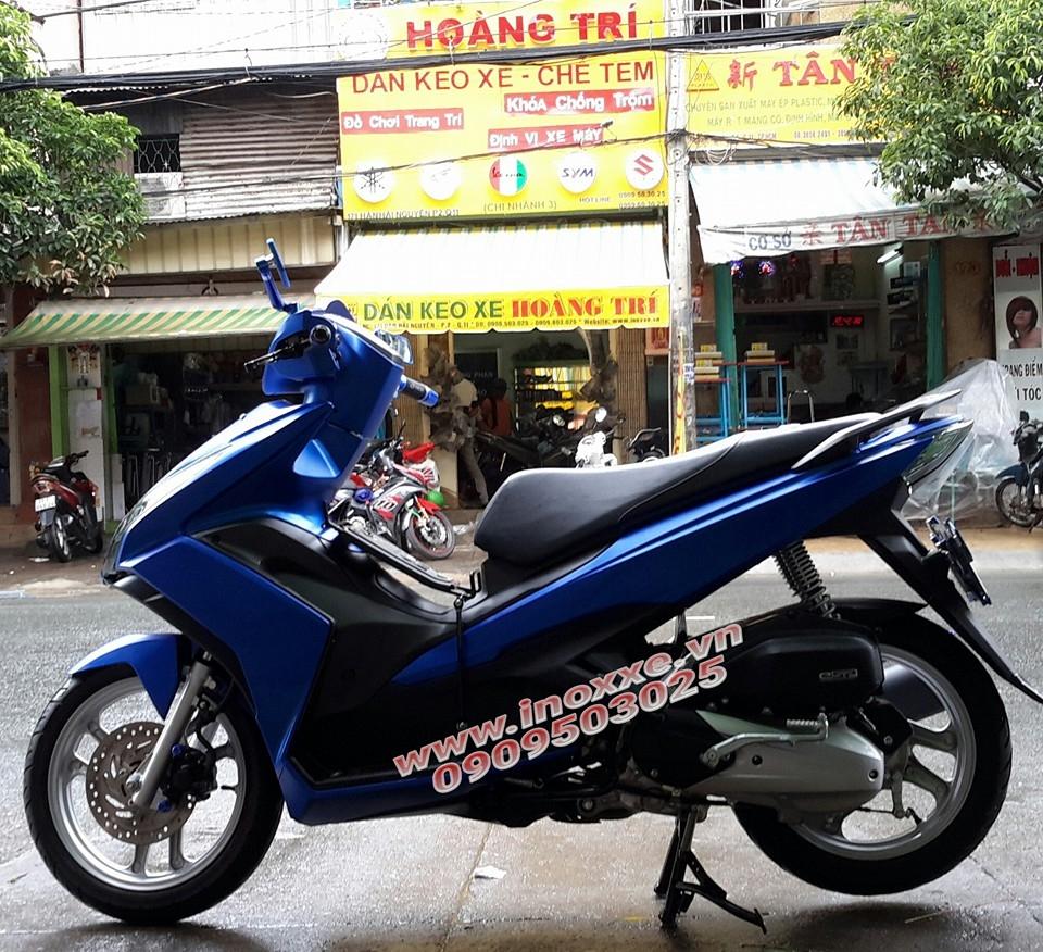 Khung inox bao ve xe Yamaha Acruzo tranh tray xuoc - 2