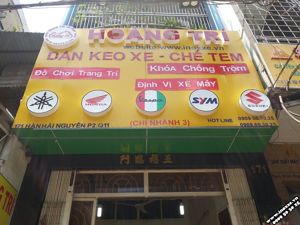 Shop chuyen do choi exciter 150 khai truong chi nhanh 3