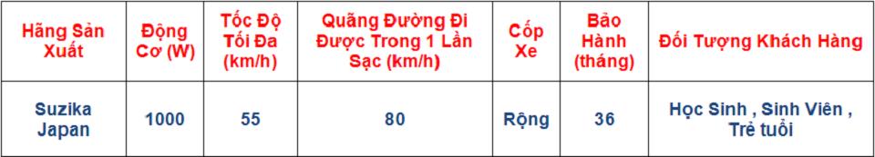 XE DIEN SUZIKA Tong Dai ly phan phoi Xe Dien Nhap Khau NijiaM133sXMan Z8GoproMilan 2Honda M6 - 9