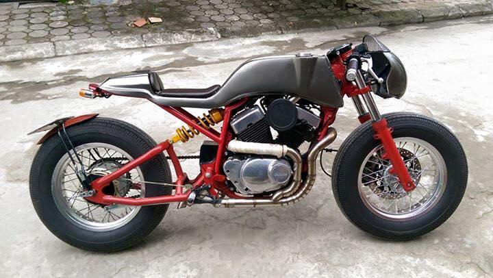 Ban Yamaha virago250 do Cafe Racer cuc doc - 4
