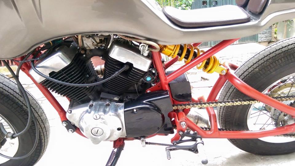 Ban Yamaha virago250 do Cafe Racer cuc doc - 9