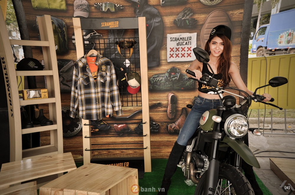 Ducati Scrambler noi bat day phong cach tai Viet Nam Motorcycle Show 2016 - 2