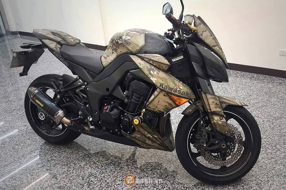 Kawasaki Z1000 do sieu ngau voi phong cach nha binh - 6