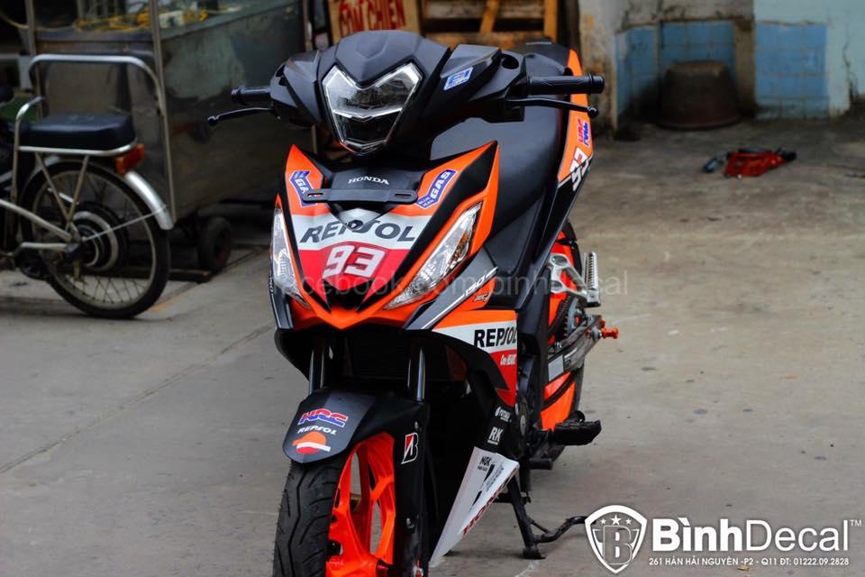 Honda Winner 150 Do phien ban Repsol cuc ky ngau - 8