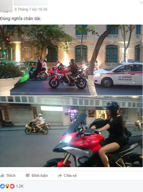 Chan dai Ha Thanh chay Ducati Multistrada 1200 tren pho gay xon xao cong dong mang - 2