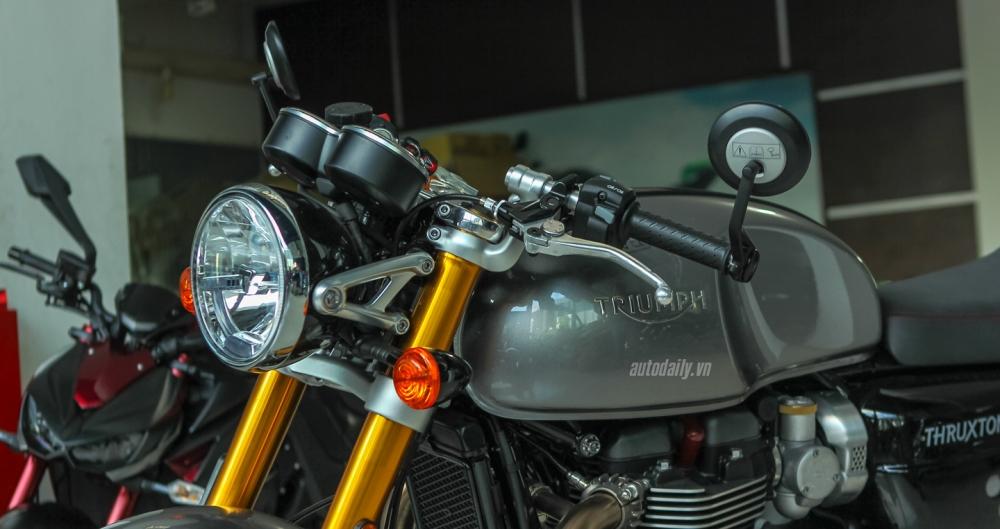 Chi tiet chiec Triumph Thruxton 1200R 2016 vua duoc nhap ve Ha Noi - 8