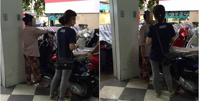 Cong dong mang tranh cai chuyen co gai nang nac doi me mua xe Vespa