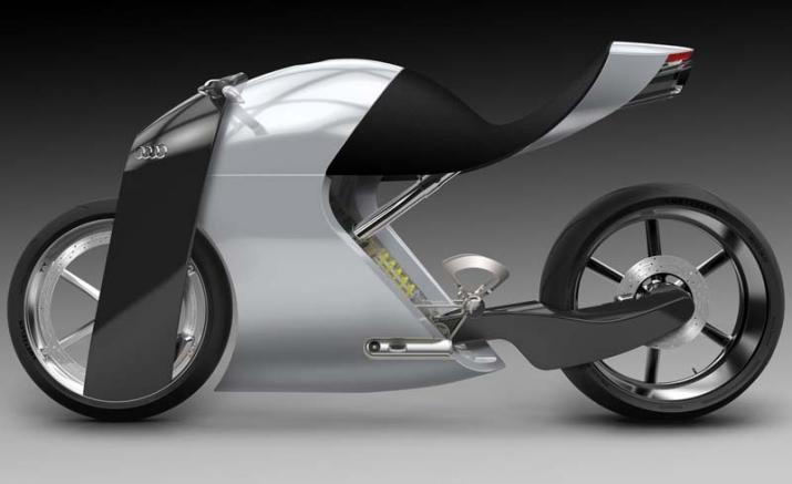 Audi trinh lang ban concept xe hai banh an tuong voi ten goi Audi RR - 4