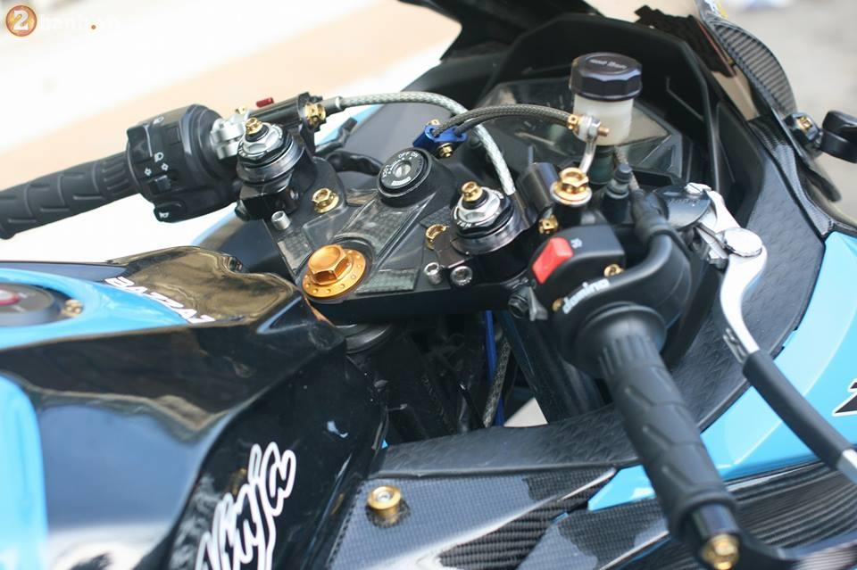 Kawasaki Ninja 300 cuc chat trong sac xanh day noi bat - 6