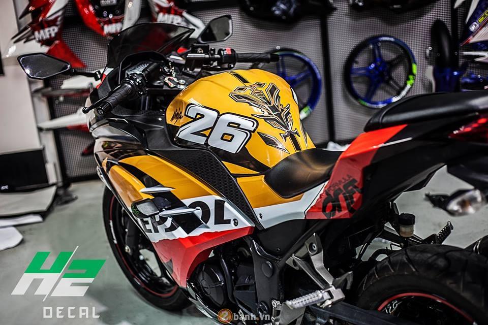 Sport Bike thanh pho Ninja 300 thoat xac phong cach Repsol Pedrosa - 4