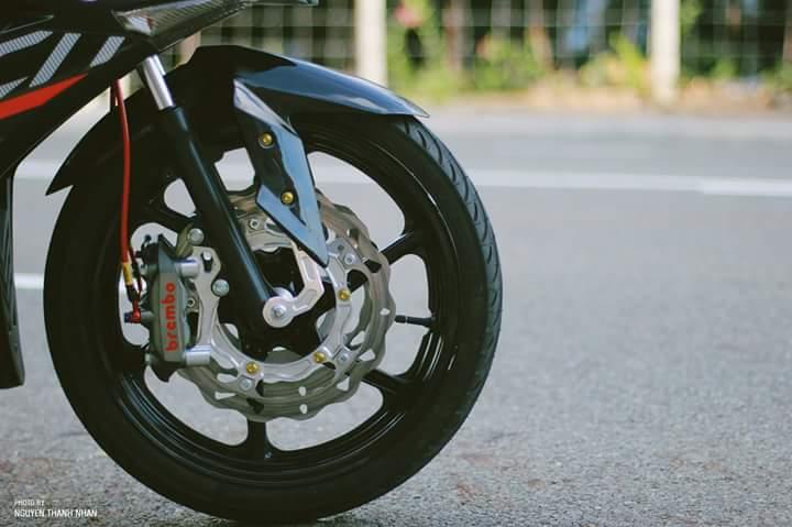 Exciter 150 trang bi bo giap day an tuong cua biker Nha Trang - 5
