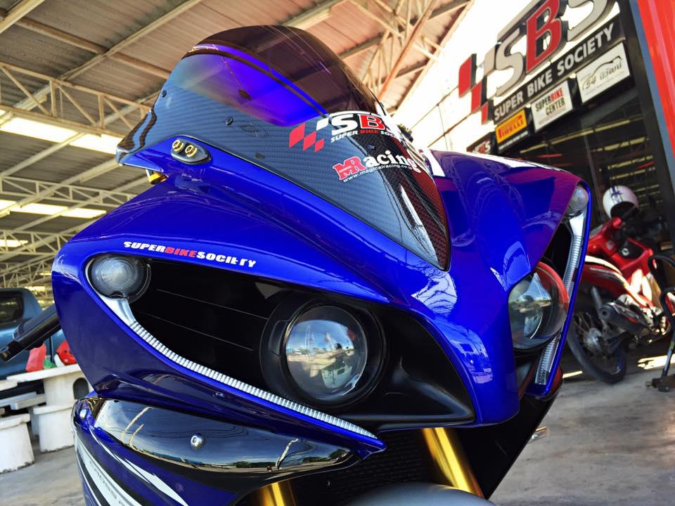 Hang khung YZFR1 trang bi tan rang goi do Racing - 14