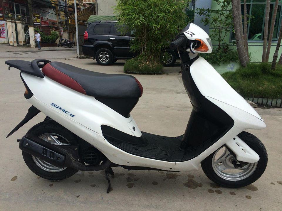 Honda Spacy 50cc nhap khau Nhat mau trang nguyen ban - 6