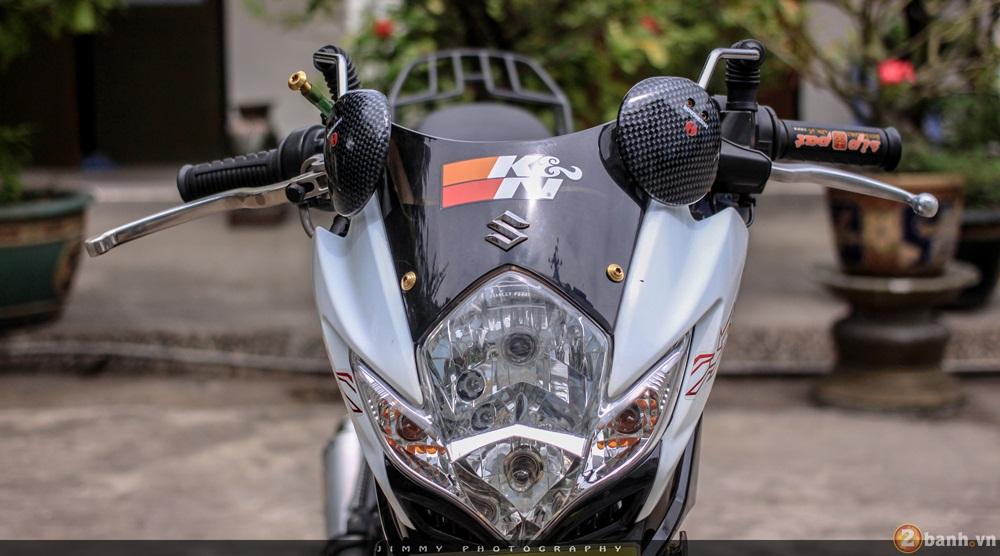 Satria F150 phien ban trang Ngoc Trinh cua tay choi Sai Gon - 12