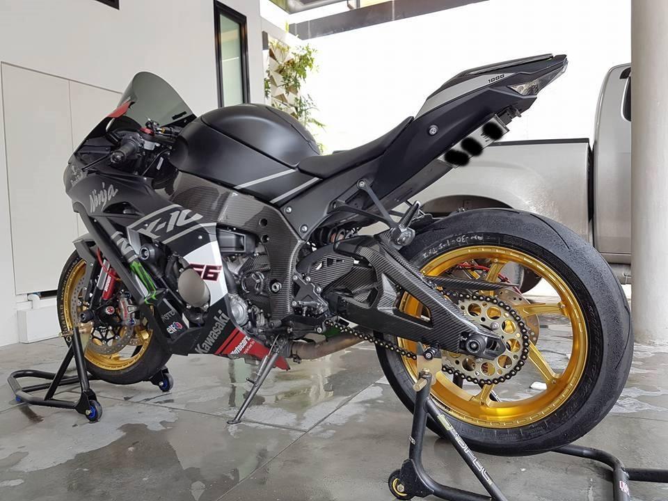 Sieu pham ZX10R chat choi voi do khung cua biker Thai - 2