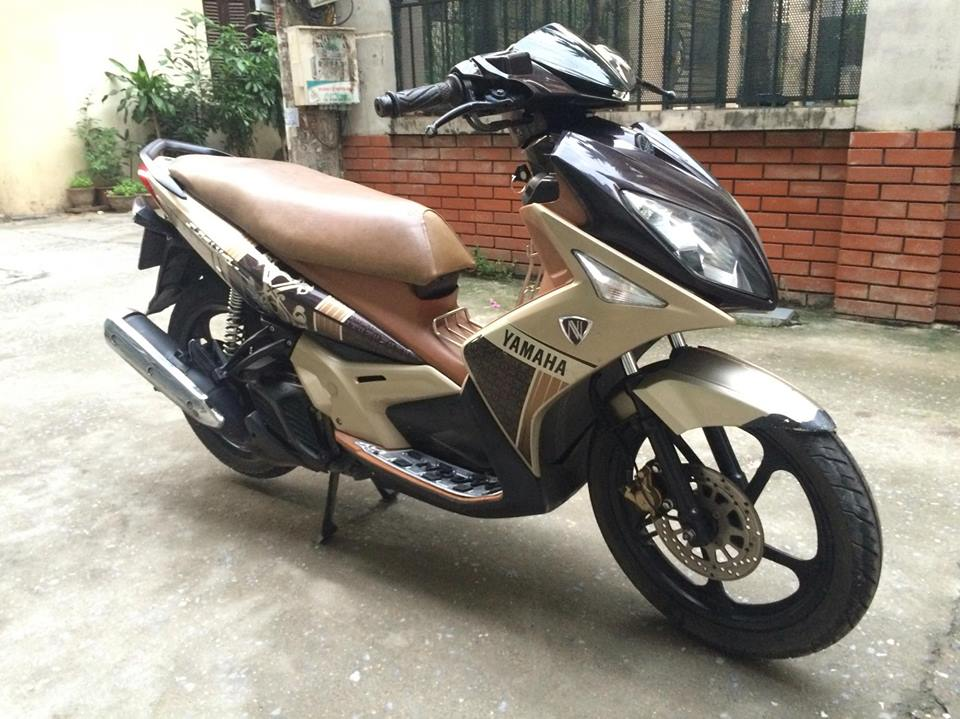 Yamaha Nouvo LX 135cc mau nau vang 2011 nhu moi - 4
