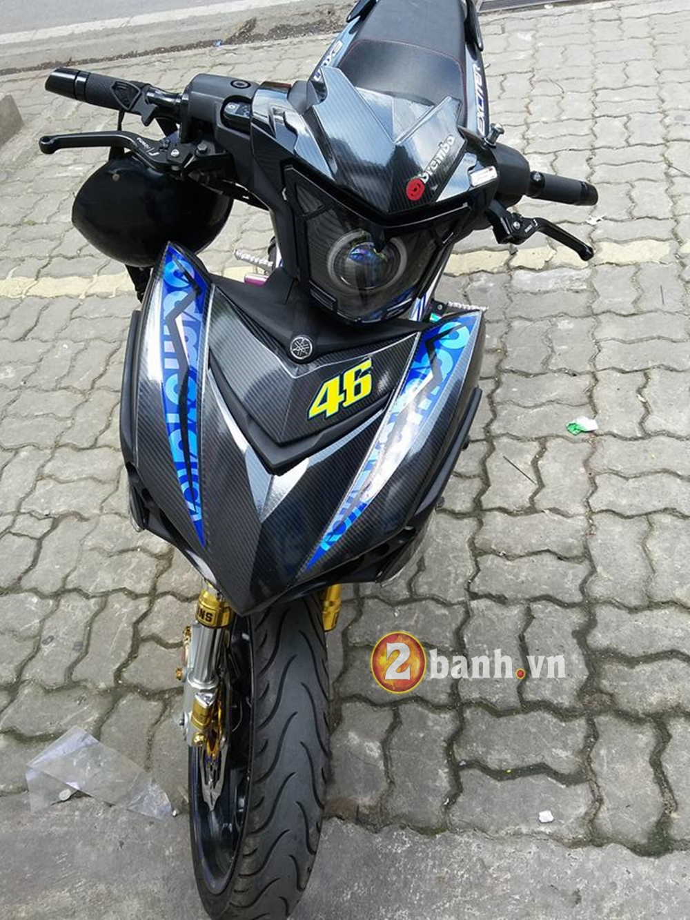 Choi full carbon 5D cung tem crom cho Exciter 150 - 6