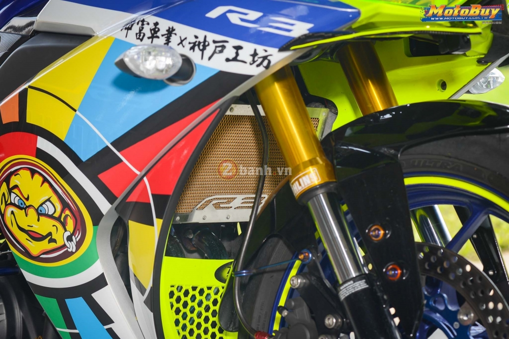 Yamaha R3 noi bat trong ban do cuc chat voi phong cach Valentino Rossi - 7