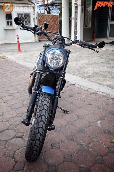 Ducati Scrambler ca tinh hon trong ban do voi phong cach Tracker - 3