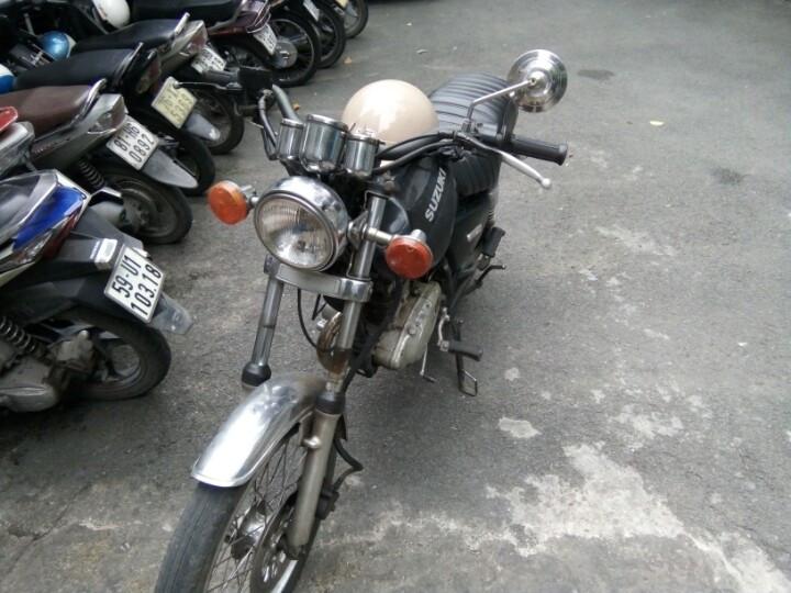 Can ban xe co dong Suzuki mau den 125cc con chay tot - 2