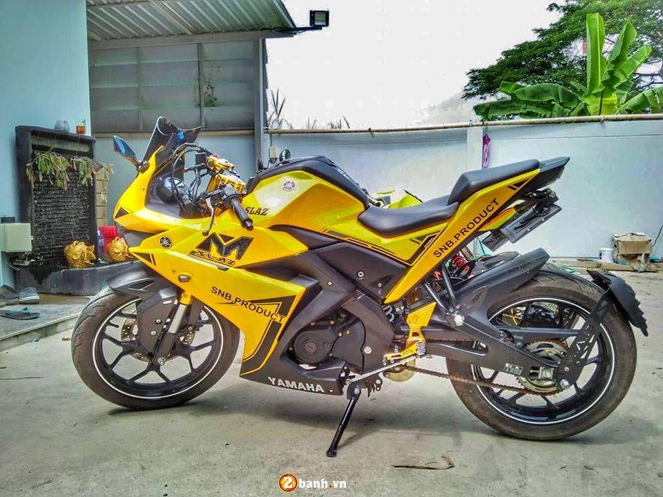 Yamaha MSlaz lot xac voi phong cach CBR150 cua nuoc ban