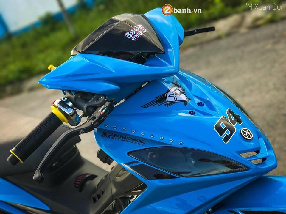 Exciter 135cc phien ban do phong cach Drag xanh yeu thuong - 4