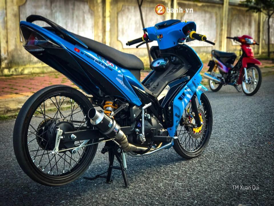 Exciter 135cc phien ban do phong cach Drag xanh yeu thuong - 7