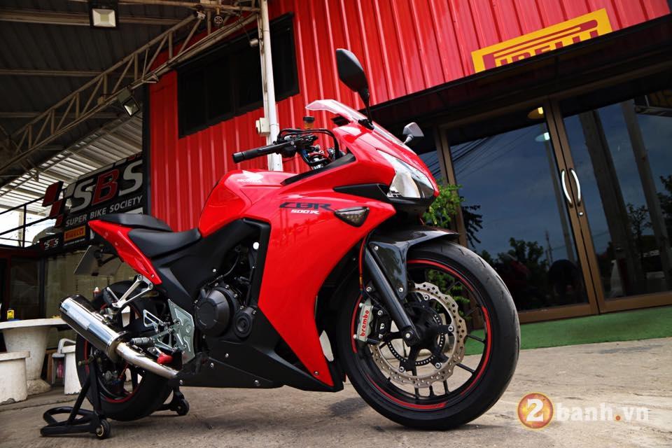 Honda CBR500R chu Bo moi lon day an tuong voi su nang cap dot pha