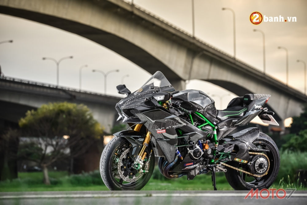 Kawasaki H2 sieu pham Ninja Full Carbon fiber - 2